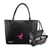 Sophia Checkpoint Friendly Black Compu Tote-Ribbon