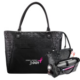 Sophia Checkpoint Friendly Black Compu Tote-Susan G. Komen 3-Day