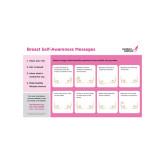 Breast Self Awareness Messages Horizontal Poster 1/pkg-