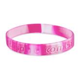 Susan G  Pink Swirl Wristband-