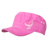 Ladies Pink Cadet Running Hat, Ribbon-