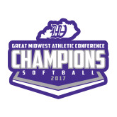 Medium Decal-GMAC Softball Champions 2017 Plate, 8 inches wide