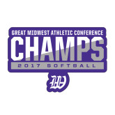 Medium Decal-GMAC Champs 2017 Softball, 8 inches wide