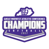 Large Decal-GMAC Softball Champions 2017 Plate, 12 inches wide