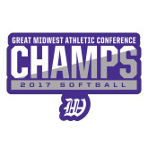 Large Decal-GMAC Champs 2017 Softball, 12 inches wide