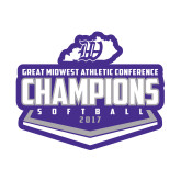 Small Decal-GMAC Softball Champions 2017 Plate, 6 inches wide