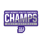Small Decal-GMAC Champs 2017 Softball, 6 inches wide