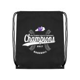Black Drawstring Backpack-GMAC Baseball Champions 2017