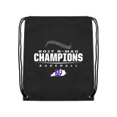 Black Drawstring Backpack-2017 GMAC Baseball Champions 2017