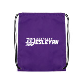 Purple Drawstring Backpack-Kentucky Wesleyan