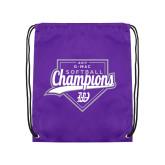 Purple Drawstring Backpack-GMAC Softball Champions 2017 Script