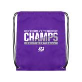 Purple Drawstring Backpack-GMAC Champs 2017 Softball