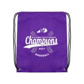 Purple Drawstring Backpack-GMAC Baseball Champions 2017