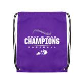 Purple Drawstring Backpack-2017 GMAC Baseball Champions 2017