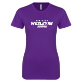Next Level Ladies SoftStyle Junior Fitted Purple Tee-Alumni