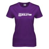 Ladies Purple T Shirt-Kentucky Wesleyan