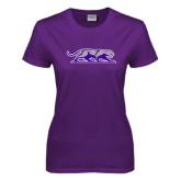 Ladies Purple T Shirt-Panther