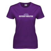 Ladies Purple T Shirt-Kentucky Wesleyan 2 Tone