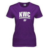 Ladies Purple T Shirt-Arched KWC Panthers