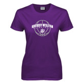 Ladies Purple T Shirt-Kentucky Wesleyan Basketball Arched