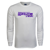 White Long Sleeve T Shirt-Primary Logo