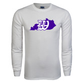 White Long Sleeve T Shirt-Kentucky W