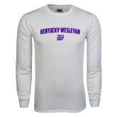 White Long Sleeve T Shirt-Arched Kentucky Wesleyan