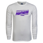 White Long Sleeve T Shirt-Slanted Kentucky Wesleyan Panthers