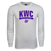 White Long Sleeve T Shirt-Arched KWC Panthers