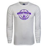 White Long Sleeve T Shirt-Kentucky Wesleyan Basketball Arched