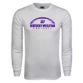 White Long Sleeve T Shirt-Kentucky Wesleyan Football w/ Ball