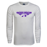White Long Sleeve T Shirt-Kentucky Wesleyan Football Stacked