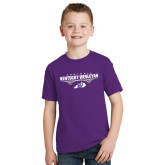 Youth Purple T Shirt-Kentucky Wesleyan Football Stacked