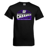 Black T Shirt-Great Midwest Athletic Conference Champs - 2017 Mens Basketball Half Ball