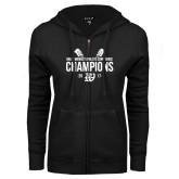 ENZA Ladies Black Fleece Full Zip Hoodie-GMAC Baseball Champions 2017 Stacked