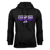 Black Fleece Hoodie-Great Midwest Athletic Conference Champions - Mens Basketball 2017 Stencil