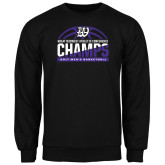 Black Fleece Crew-Great Midwest Athletic Conference Champs - 2017 Mens Basketball Half Ball