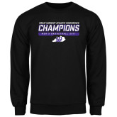 Black Fleece Crew-Great Midwest Athletic Conference Champions - Mens Basketball 2017 Stencil
