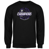 Black Fleece Crew-Great Midwest Athletic Conference Champions - 2017 Mens Basketball Lined Ball