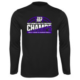 Syntrel Performance Black Longsleeve Shirt-Great Midwest Athletic Conference Champs - 2017 Mens Basketball Half Ball