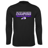 Syntrel Performance Black Longsleeve Shirt-Great Midwest Athletic Conference Champions - Mens Basketball 2017 Stencil