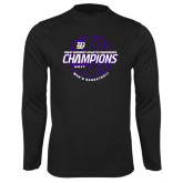 Syntrel Performance Black Longsleeve Shirt-Great Midwest Athletic Conference Champions - 2017 Mens Basketball Lined Ball