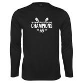 Syntrel Performance Black Longsleeve Shirt-GMAC Baseball Champions 2017 Stacked