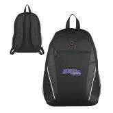 Atlas Black Computer Backpack-Primary Logo
