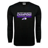 Black Long Sleeve T Shirt-Great Midwest Athletic Conference Champions - Mens Basketball 2017 Stencil
