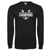 Black Long Sleeve T Shirt-GMAC Baseball Champions 2017 Stacked