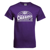 Purple T Shirt-Great Midwest Athletic Conference Champs - 2017 Mens Basketball Half Ball