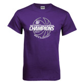 Purple T Shirt-Great Midwest Athletic Conference Champions - 2017 Mens Basketball Lined Ball
