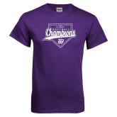 Purple T Shirt-GMAC Softball Champions 2017 Script