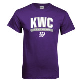 Purple T Shirt-Arched KWC Panthers